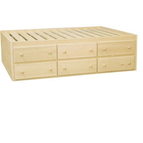 Inwood Captain S Bed With 6 Storage Drawers Captains Bed With 6 Drawers