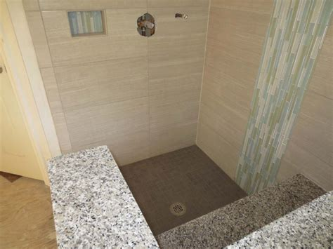 Large format tile bathroom time lapse installed with