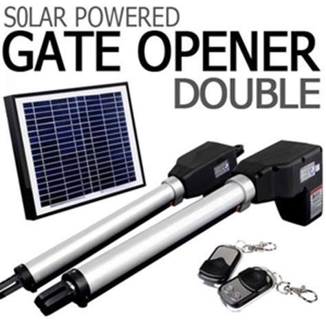 solar powered swing gate opener buy solar powered double swing auto motor remote gate