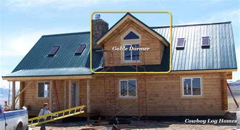 Dormer And Gable Anatomy Of Log Homes Cowboy Log Homes