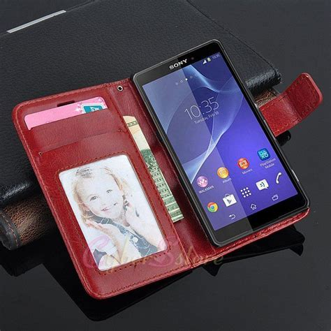 Sony Xperia Z3 Mini Z5 Compact Casing Leather Flip Cover Wallet for sony xperia z5 z5 compact compact vintage wallet leather card holder retro flip