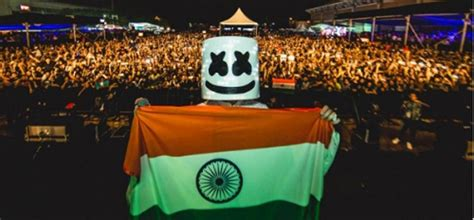 marshmello in india marshmello surprised the audience by playing bollywood