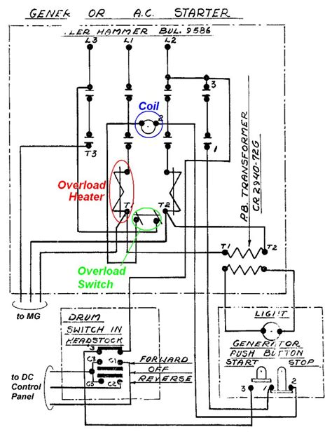 furnas magnetic starter wiring diagram furnas starter