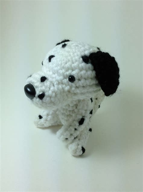 dalmatian plush stuffed animal handmade amigurumi dog