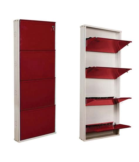 Shoe Rack Designs India by Nilkamal Estilo 4door Metal Shoe Rack Maroon Buy