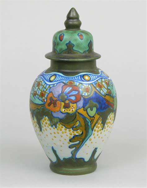 pattern in ceramics a gouda pottery jar in quot corona quot pattern plaatelbakkerij