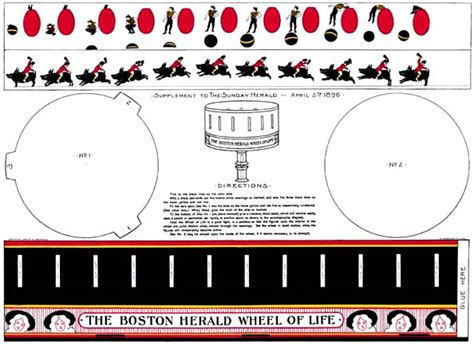 printable zoetrope optical toys paper zoetrope kitthird page