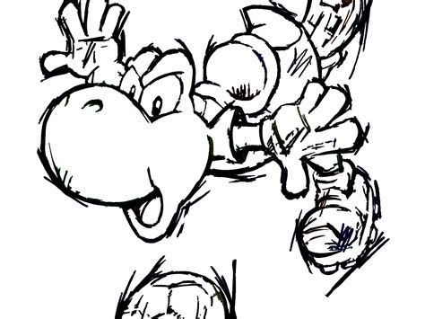 Yoshi Coloring Pages Free Large Images Coloring Pages Large