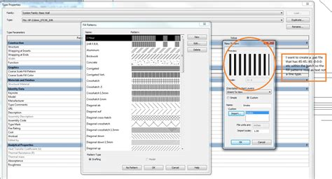 revit wall pattern line weight revitcity com revit 2013 text in coarse scale fill patterns