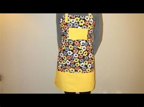 sewing apron youtube how to sew an apron diy youtube