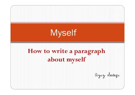 about myself and such as i am memoir russian edition books how to write a paragraph about yourself