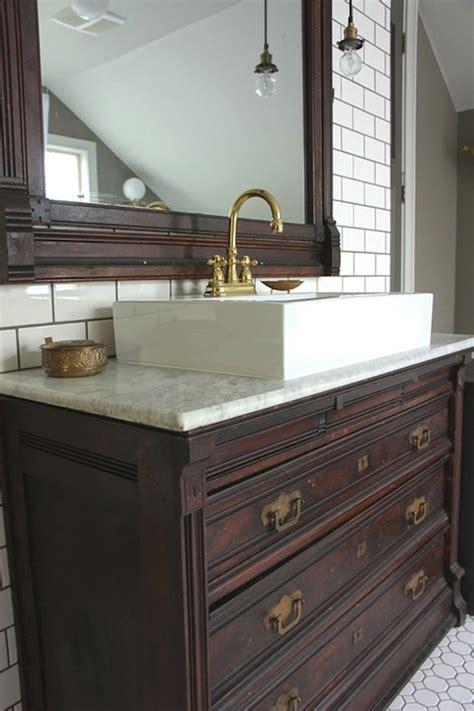 bathroom vanities from old dressers vintage dresser retrofitted for bathroom vanity client