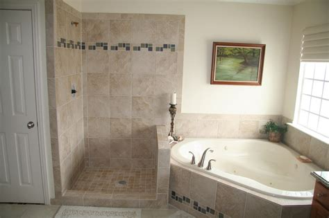 tiled shower stalls create distinctive  stylish shower