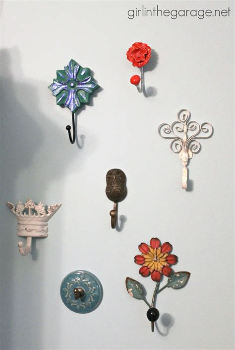 decorative wall hooks for hanging decorative wall hooks as jewelry storage girl in the garage 174