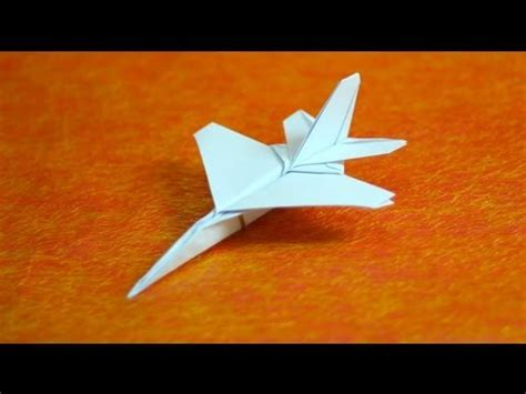 Origami Paper Jet - how to make origami f16 jet fighter paper airplanes step