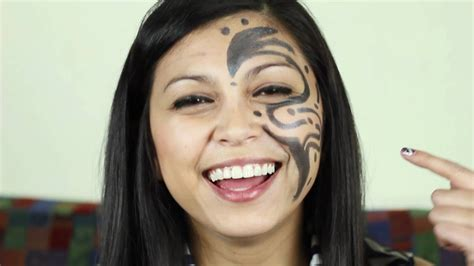 female face tattoo support get a