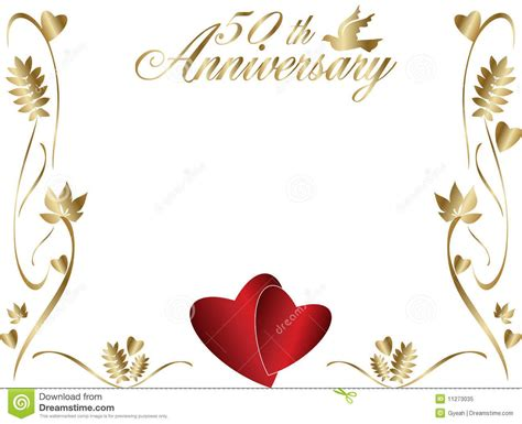 Wedding Anniversary Greeting Card Clipart by 50th Happy Wedding Anniversary Greeting Card Graphic