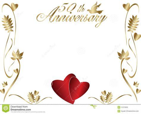 Wedding Anniversary Borders by 50th Happy Wedding Anniversary Greeting Card Graphic