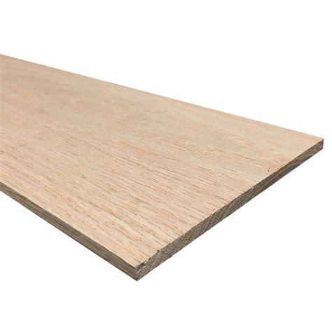 1 4 in x 6 in x 3 ft s4s oak board 27379 the home depot