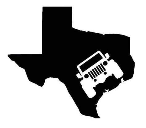 texas jeep stickers jeep texas vinyl decal sticker