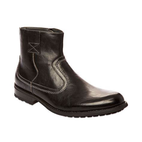 mens steve madden boots steve madden madden mens shoes solarr boots in black for
