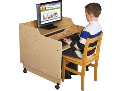 classroom computer desk mobile classroom computer desk 30 quot w assembled children s