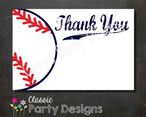 baseball thank you card template 8 best images of free baseball printable thank you free