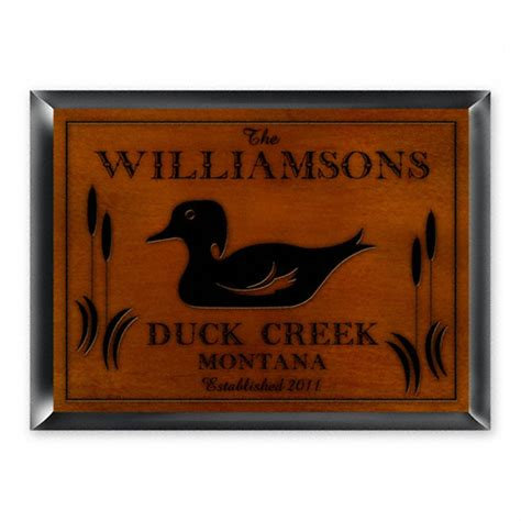 Wood Signs For Cabins by Personalized Traditional Wood Cabin Sign 229746