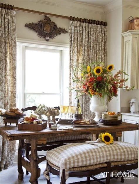 Country Dining Room Drapes 1000 Ideas About Picture Window Treatments On
