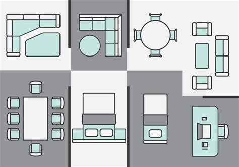 furniture clipart for floor plans architecture plans furniture icons download free vector