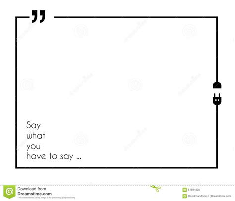 Quotation Mark Frame With Flat Style And Space For Text ...
