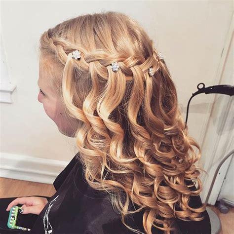 spiral curls waterfall braid cute girls hairstyles 26 stunning half up half down hairstyles page 2 of 3