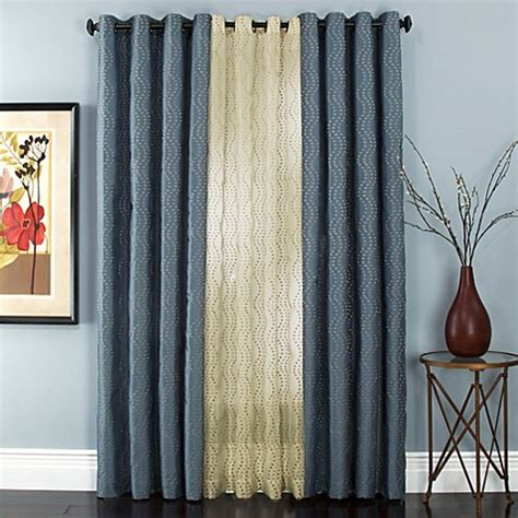 bed bath and beyond grommet curtains sloane embroidered lined grommet window curtain panels