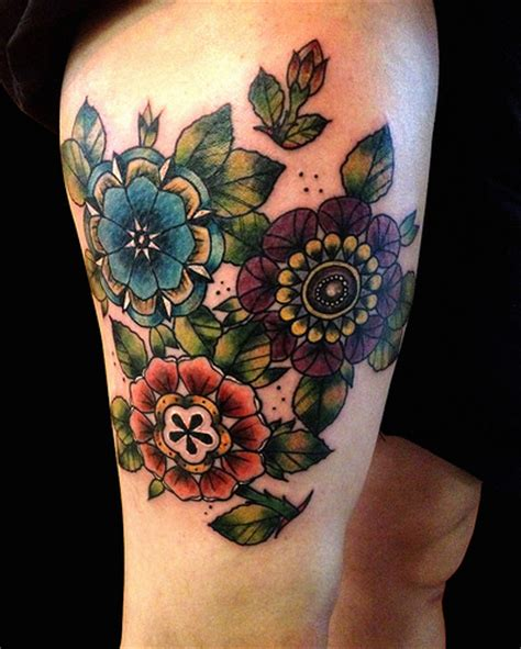 tattoo flowers traditional neo traditional flowers by ollie t2 flickr photo sharing