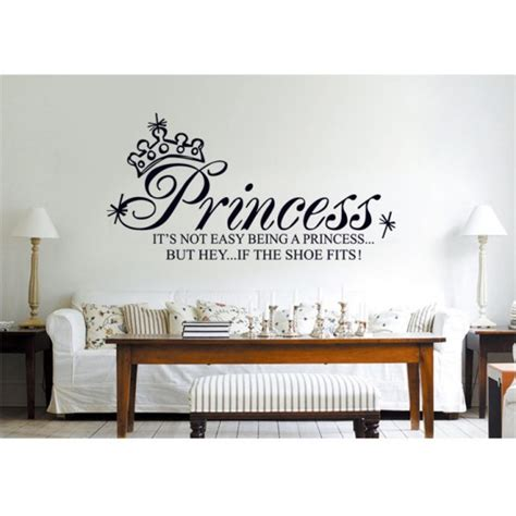 size wall stickers princess wall quote wall sticker 130x65cm size df5208