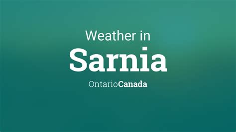 weather  sarnia ontario canada