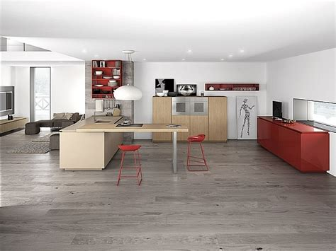 modern kitchen with red cabinets decoist dynamic minimalist kitchen sizzles with flaming red accents