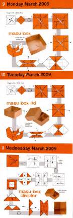 Masu Box Origami - simple masu box with lid and divider origami