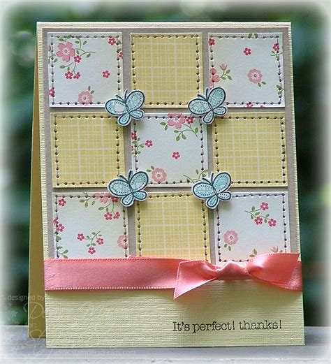 Patchwork Cards - the paper landscaper patchwork butterflies