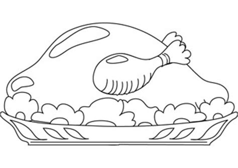 chicken dinner coloring page roast chicken coloring