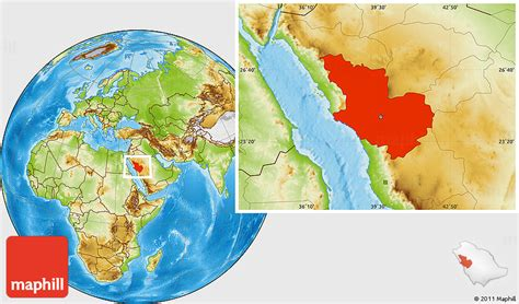 physical location map  madinah
