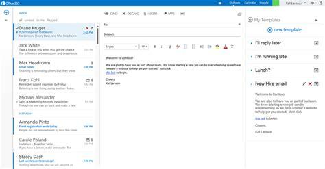 De Nouvelles Api Pour Office 365 Et Des Extensions Pour Outlook Com Microsoft Office Email Templates