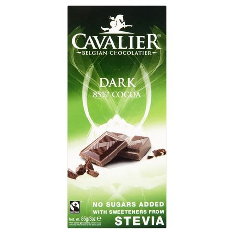 Cavalier Milk Chocolate 85gr No Sugar Added chocolate with stevia thin