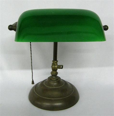 antique green bankers l vintage green glass bankers l lot 1099