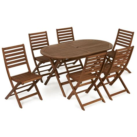 Patio Set 6 Chairs Wilko Fsc Wooden Patio Set 6 Seater At Wilko