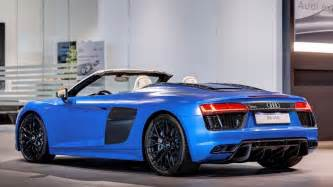 2017 audi r8 spyder in arablau matt shows up at audi forum