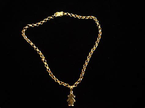 cadenas de mujer en oro cadena mas dije para dama en oro 18k 25gr u s 1 500 00