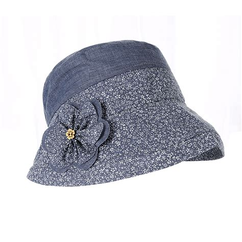womens floral flower hat cotton fishing cing