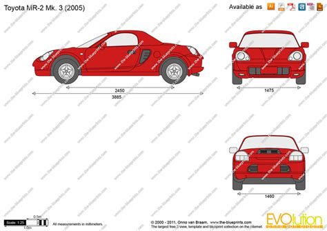 Draw Blueprints Online the blueprints com vector drawing toyota mr2 mk 3