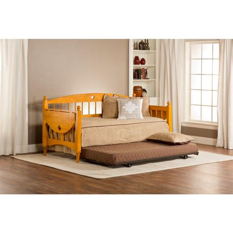 Wood Daybed With Trundle Hillsdale Furniture Dalton Medium Oak Trundle Day Bed 1393dblh The Home Depot
